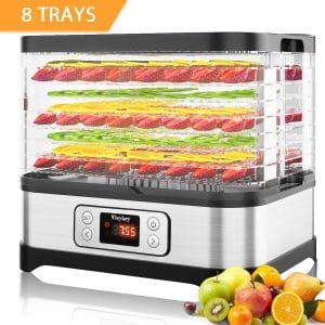 Hauture Dehydrator Machine with a Digital Timer, BPA Free