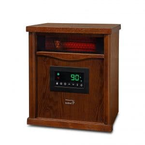 Ivation Electric Space Heater with Digital Thermostat, Cherry Oak