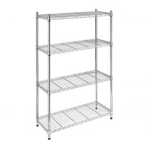 Whitmor Supreme Adjustable Shelves 4 Tier Shelving- Chrome