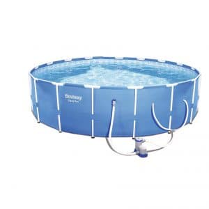 Bestway Steel 12 x 12 Foot Swimming Pool with a Filter Pump