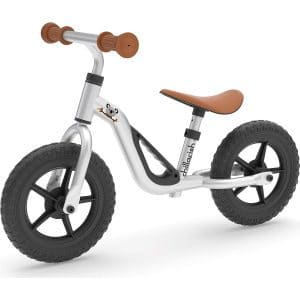 """Chillafish Charlie Lightweight Toddler Balance Bike, Cute Balance Trainer for 18-48 Months, Learn to Bike with 10"""" inch no-Puncture Wheels, Adjustable seat and Carry Handle"""