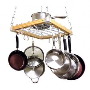 Cooks Standard Ceiling Mounted Wooden Rack