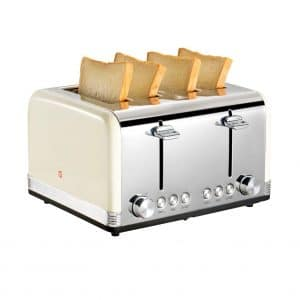Gohyo Stainless Steel Bread and Bagels 4 Slice Toaster