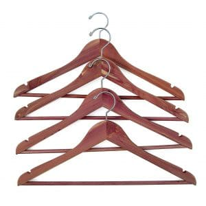 Household Essentials 26140 Set of 4 CedarFresh Wood Clothes Hangers