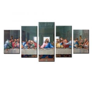Jingtao Art 1Ready to Hang Jesus the Last Supper Wall Art, White
