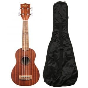 Kala KA-15S Soprano Ukulele Mahogany Guitar with case gig bag