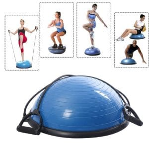 SKB Yoga Half Ball for Workout with Pump