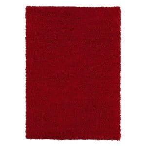 Sweet Home Stores Cozy Shag Red Color Collection Solid Shag Rug