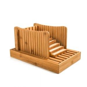 Deppon Bamboo Wood Bread Slicer