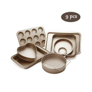 Esonmus 9 Pieces Nonstick Carbon Steel Bakeware