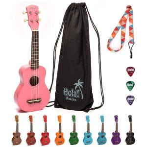 Hola! Music Soprano HM-21PK Ukulele Bundle Acoustic Guitar