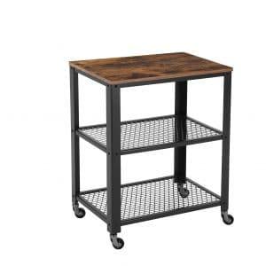 VASAGLE 3-Tier Kitchen Utility Industrial Serving Cart