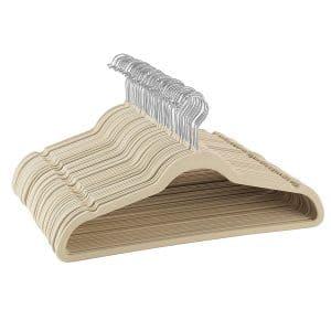 Zober Non-Slip 100-pack Ultra-Thin Velvet Hangers
