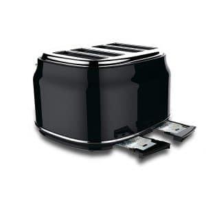 homeart Artisan Vintage 4 Slice Toaster (Black)