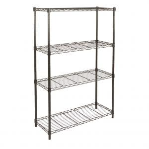 AmazonBasics 4-Shelf Black Shelving Unit