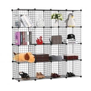 BASTUO Wire Storage Cabinet 16 Cubes Organizer