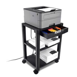 Circuit City 3 Shelf Wheeled Rolling Printer Cart