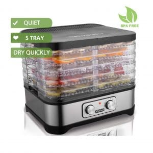 Homdox Food Dehydrator Machine, 5 Trays, and BPA Free