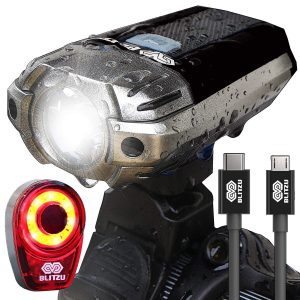 BLITZU Gator 390 Back Tail Light/Headlight Front USB Rechargeable LED Bike Light Set