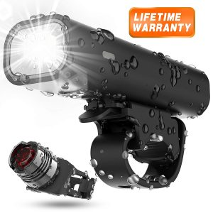 Bicycle Torch LED Light Guide nottura Waterproof Rechargeable USB