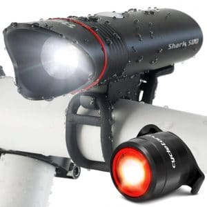 Shark 500 Bike Headlight & Tail USB Rechargeable Light from Cycle Torch