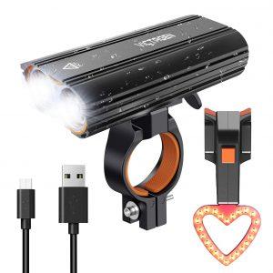 Victagen USB Rechargeable 2400 Lumens Bike Light Set