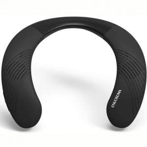 ENUOSUMA Wireless Wearable Speaker -Neckband 5.0 Bluetooth Speaker True 3D Stereo Sound, Portable Personal Speakers IPX5 Waterproof with 12H Play time