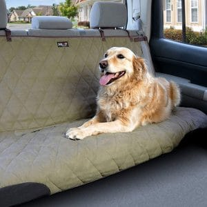 PetSafe Solvit Deluxe Pet Seat Cover- For Car, Truck, and SUV Use - Available in Hammock and Bench Styles