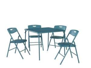 Cosco 37557TEAE Folding Table & Chair Set, Teal