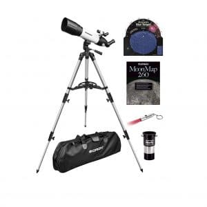 Orion 90mm Altaz Travel Refractor Telescope Kit