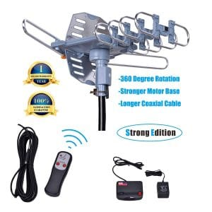 Will Brands Long Range Outdoor TV Antenna with Snap-On Installation