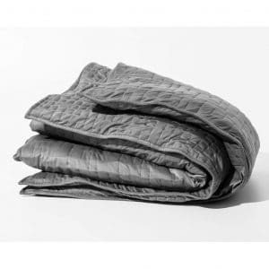 """Gravity Cooling Blanket- The Weighted Blanket for Sleep, Stress and Anxiety, 48"""" x 72"""" Size, Space Grey (20lb)"""