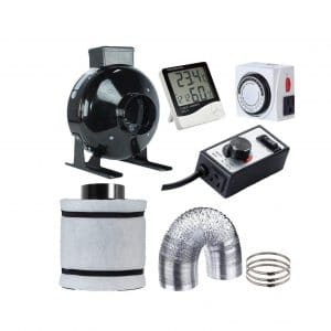 Hydro Plus Inline Fan and 4 inches Air Carbon Filter Combo