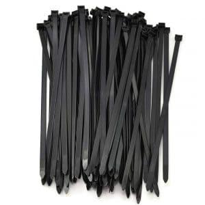 "7/"" cable ties Black USA made 500 pcs."
