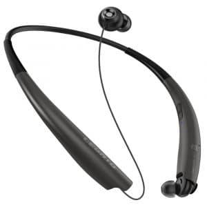 LEGATO 2nd Gen Bluetooth Headphones Neckband (Tireless Fit) Bluetooth Headset Wireless Headphones Earbuds aptX Audio:Noise Isolation:AI Voice Command:Nanofiber Core Tech, Wear The Sound TM