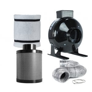 """TopoLite 4"""" Inline Fan Ducting Combo Air Carbon Filter"""