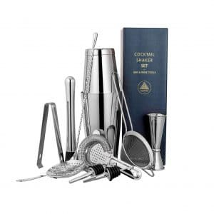 ALOONO 11-Pieces Cocktail Shaker Bar Set