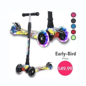 DaddyChild Kick Scooter 4 Adjustable Heights