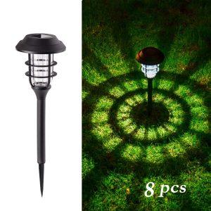 GIGALUMI 8 Pcs Outdoor Solar Lights