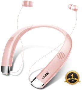[Newest V5.0] Bluetooth Headphones Speaker 2 in 1 LIUHE Neckband Portable Wireless Headset Wearable Speaker True Stereo Sound Sweatproof Headphones