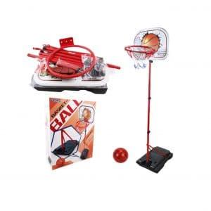 SOWOW Toddler Basketball Hoop Stand Portable Adjustable Hoop