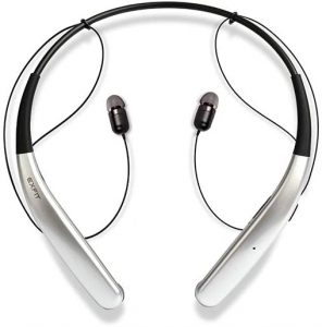 BCS-100 | Cost Effective Wireless Bluetooth Headphones, 14 Hour Battery, Sweat & Splash Resistant for Home Office, Video Conference Call (Bright Silver)