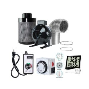 BloomGrow 4 inches Inline Fan and Carbon Filter Ducting Combo
