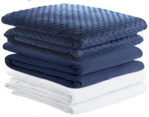 Degrees of Comfort Weighted Blanket w 2 Duvet Covers for Hot & Cold Sleepers|Advanced Nano-Ceramic Beads Deliver Durability & Silky Comfort