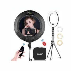 Emart 18 Inches LED Ring Light with Tripod Stand