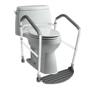 RMS Toilet Safety Frame- Adjustable Height (White)