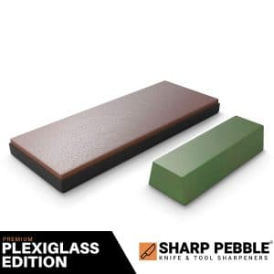 Sharp Pebble Premium Leather Strop with Polishing Compound