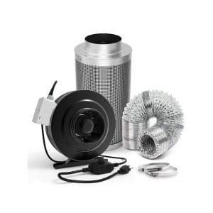 GROWNEER 6 Inch Carbon Filter 440 CFM Inline Duct Fan