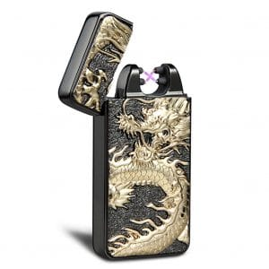 Kivors Windproof USB Rechargeable Flameless Electronic Double Arc Lighter