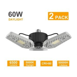 LZHOME 2-Pack LED Deformable Garage Lights